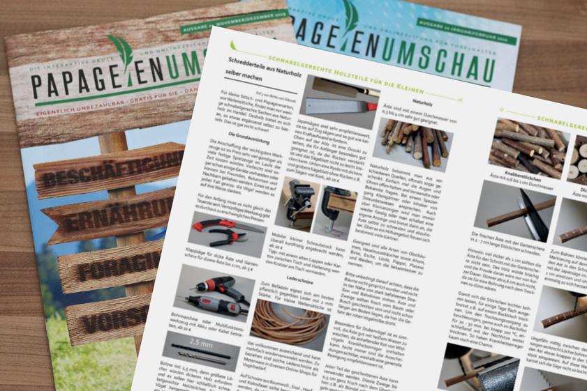 Schredderteile aus Naturholz selber machen